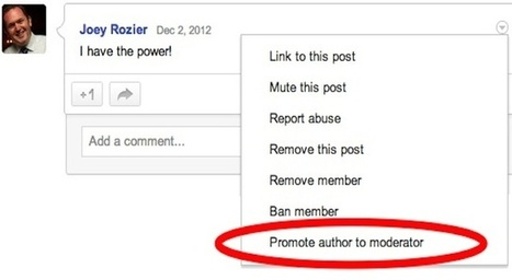 You Can Now Add Moderators to Google+ Communities | Using Social media for branding | Scoop.it