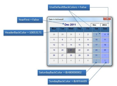 Calendar Control for All Office versions - including Office 2010 64 bit - E90E50 | FrankensTeam's Excel Collection | Scoop.it
