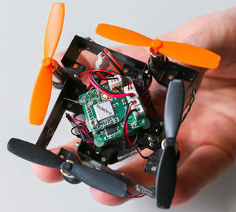 "Drone innovations: next gen quadcopters fold, crash, recover | L'impresa ""mobile"" 