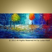 Modern Abstract Art for Sale & Original abstract paintings - ARTbyLuizaVizoli   Original-Painting   Scoop.it