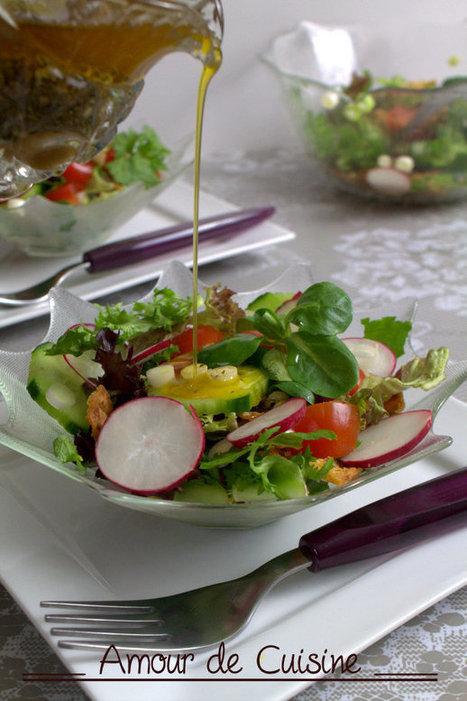 fattouch: salade fraiche au pain frit - Amour de cuisine | Cuisine Algerienne, cuisine marocaine, cuisine tunisienne, cuisine indienne | Scoop.it