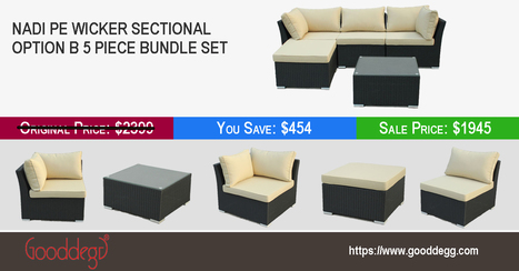 All-weather Luxury PE Wicker Sectional Sofa Set at Sale | Home Decor (Wicker Furniture) | Scoop.it
