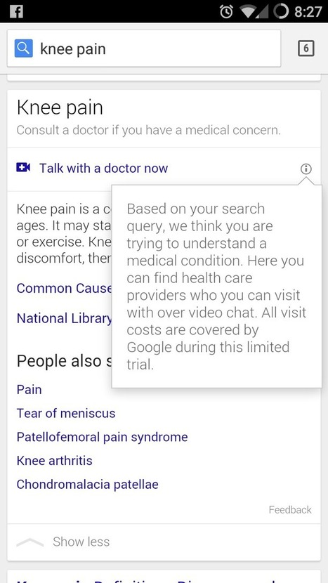Google Offers Telehealth Visits with Doctors When You Search for Symptoms | Digitized Health | Scoop.it