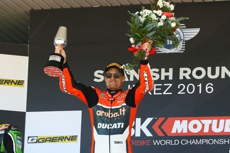 Chaz Davies Wins Jerez WorldSBK Race One - Cycle News | Ductalk Ducati News | Scoop.it