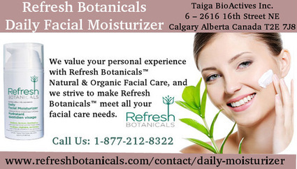 Refresh Botanical Daily Facial Moisturizer | Refresh Botanicals | Scoop.it