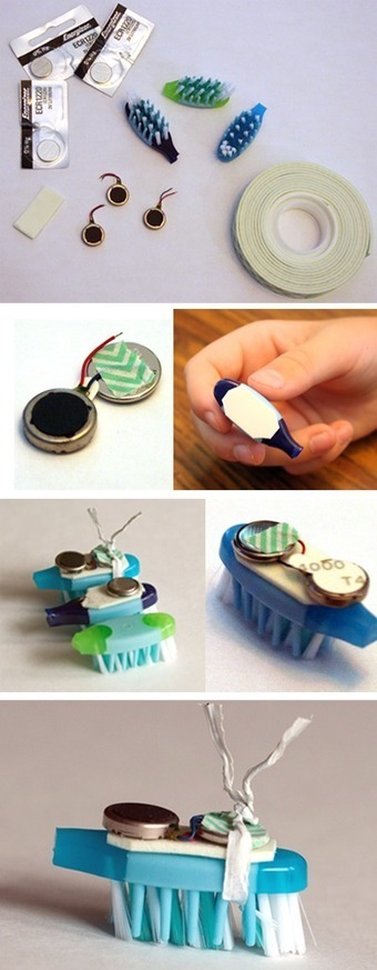 Building Bristlebots: Basic Toothbrush Robotics - Science Buddies Blog | Maker Lessons & Activities | Scoop.it