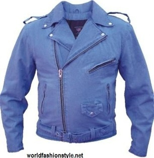 Blue Biker Leather Jacket – A Sign Of Cool And Style | World Fashion Styles | Scoop.it