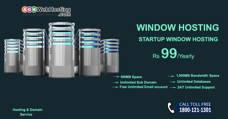 Startup Window Hosting Just Rs. 99 | AGM Web Hosting | Scoop.it