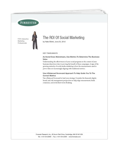 Forrester report: The ROI of Social Marketing | Love and Light Marketing | Scoop.it