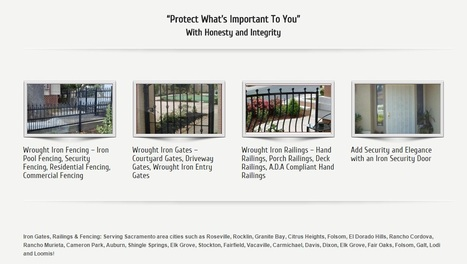 Wrought Iron Fencing - http://ironoutlet.com/fence/ | Custom Courtyard Gates Design with variant styles around Sacramento | Scoop.it