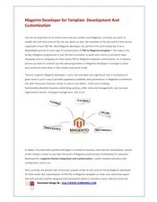 Benefit From the Advantages of PSD to Magento Template Conversion Services   Web Development   Scoop.it