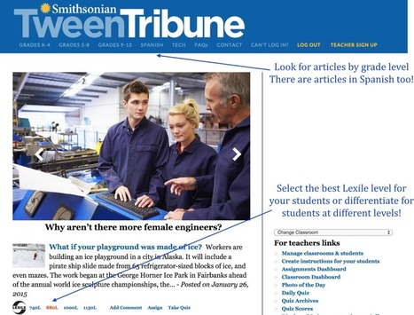 Common Core Reading Resource: Smithsonian Tween Tribune | CCSS News Curated by Core2Class | Scoop.it