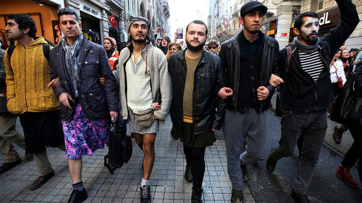 Men in miniskirts take stand for women's rights in Turkey | Dare To Be A Feminist | Scoop.it