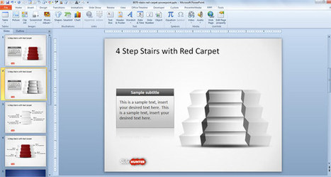 Free 4 Step Stairs & Red Carpet Shapes for PowerPoint | Tablet PC and monopolized markets | Scoop.it