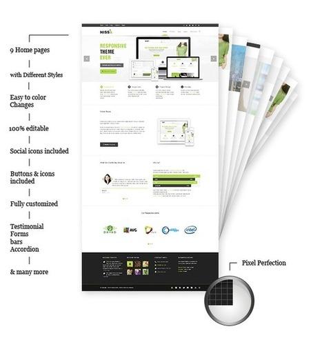 Nissa Multipurpose PSD - Mojo Themes | Theme PSD | Scoop.it
