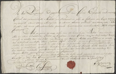 AD34 Trésor d'archives : démission de Jean-Jacques Léotard (de Brignac) de la milice bourgeoise de Demerary (3 avril 1789) | Nos Racines | Scoop.it