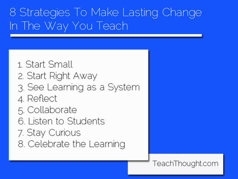 8 Strategies To Make Lasting Change In The Way You Teach | Educational Technology - Yeshiva Edition | Scoop.it