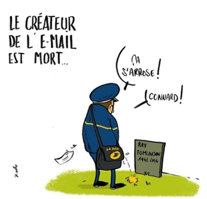 Le créateur de l'email est mort ! | Baie d'humour | Scoop.it