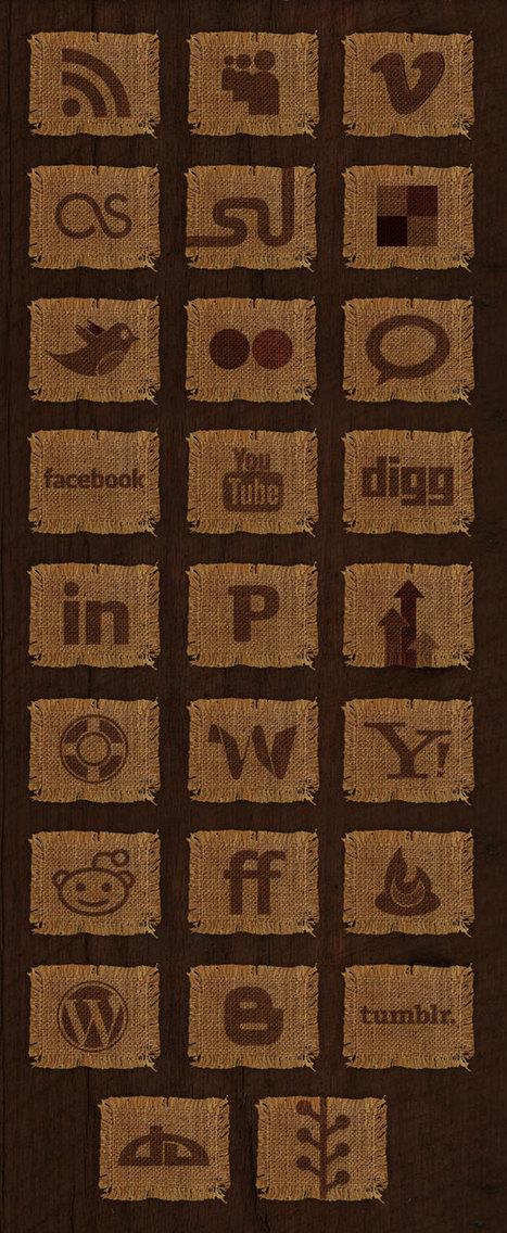 Woven Fabric Social Media Icon Set • Studiodaas Magazine   social musings   Scoop.it