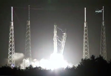 SpaceX Falcon 9 rocket sends Dragon cargo ship to space station, then returns to land | The NewSpace Daily | Scoop.it