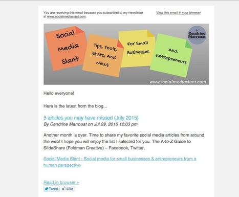 5 Great Tools for Sending Newsletters | Business in a Social Media World | Scoop.it