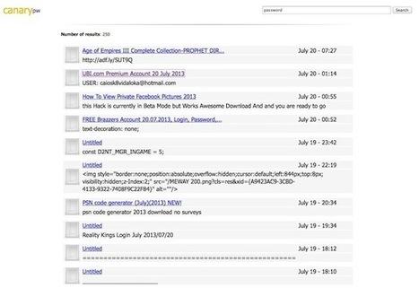 Canary – Un moteur de recherche pour les Pastebin like | Time to Learn | Scoop.it
