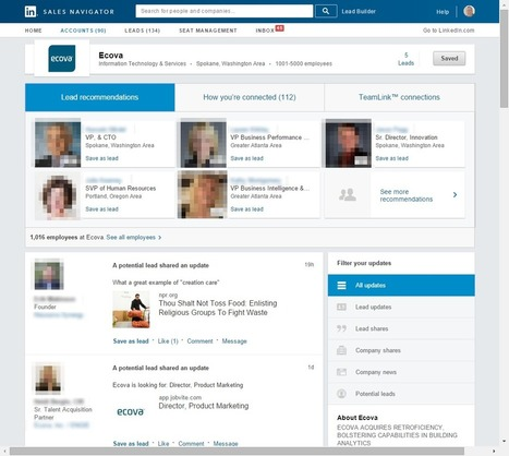 How to Get Value Out of LinkedIn Sales Navigator | For All Linkedin Lovers | Scoop.it