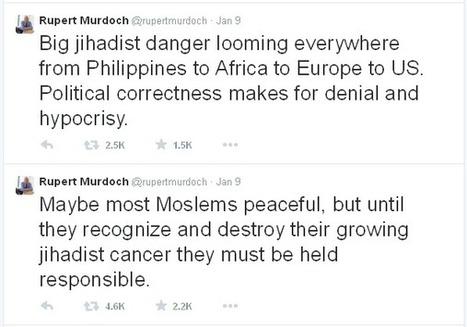 Rupert Murdoch, Charlie Hebdo And Muslims ~ The Arab World 360° | The Arab World 360° | Scoop.it