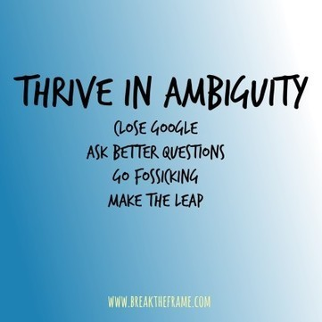 Personal Leadership: Thrive in Ambiguity - Break The Frame | Positive futures | Scoop.it