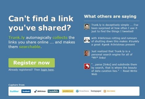 Trunk.ly - The new era of social bookmarking | Social Media Content Curation | Scoop.it