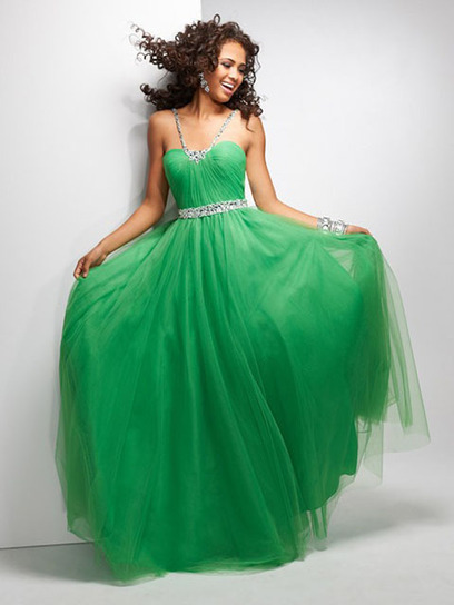 Ball Gown Straps Tulle Floor-length Sleeveless Crystal Detailing Quinceanera Dresses at pickedlooks.com | Quinceanera Dresses 2014 | Scoop.it