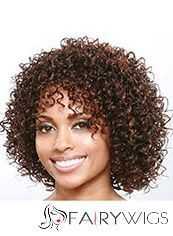 Newest Short Curly Brown Side Bang African American Wigs for Women 12 Inch : fairywigs.com | Human Hair Wigs | Scoop.it