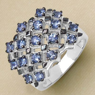 Weekly Super Sale : 1.53CTW Genuine Tanzanite .925 Sterling Silver Ring   Online Jewellery Shopping in India   Scoop.it