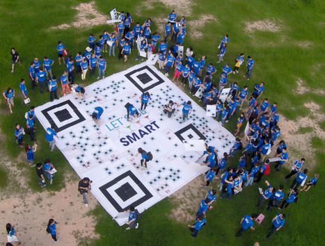 Pernod Ricard promotes wise drinking with gigantic QR Code - Marketing Interactive | QR Code Art | Scoop.it