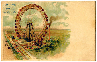 Vintage Graphic - Paris Ferris Wheel - The Graphics Fairy | Urban Exploration | Scoop.it