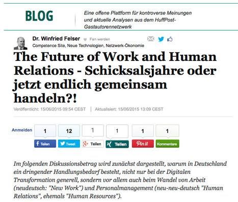 The Future of Work and Human Relations - Schicksalsjahre oder jetzt endlich gemeinsam handeln?!   INTERACTIVE COLOGNE Festival   Scoop.it