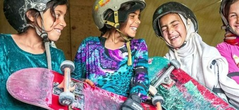 Not allowed to bike so these Afghan girls rip it up on skateboards instead | Women of The Revolution | Scoop.it