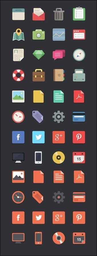 85+ Best High Quality Free Flat Icons | Designrazzi | Premium Themes Download | Scoop.it