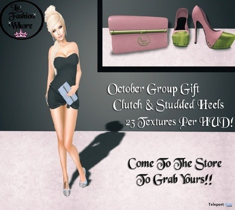 Clutch & Studded Heels Group Gift by Le Fashion Whore | Teleport Hub - Second Life Freebies | Second Life Freebies | Scoop.it