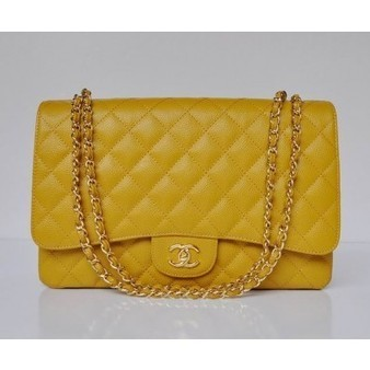Chanel 2.55 Bag 47600 Soft Grained Yellow With Gold Chain Perfect present | Chanel Handbags Outlet Online | Scoop.it