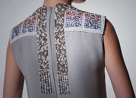 QR code dresses transmit vital data direct from the catwalk | DVICE | QR-Code and its applications | Scoop.it