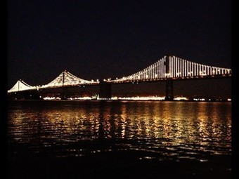 The  Bay Bridge shines in the light of 25,000 LEDs | YogaLibrarian | Scoop.it