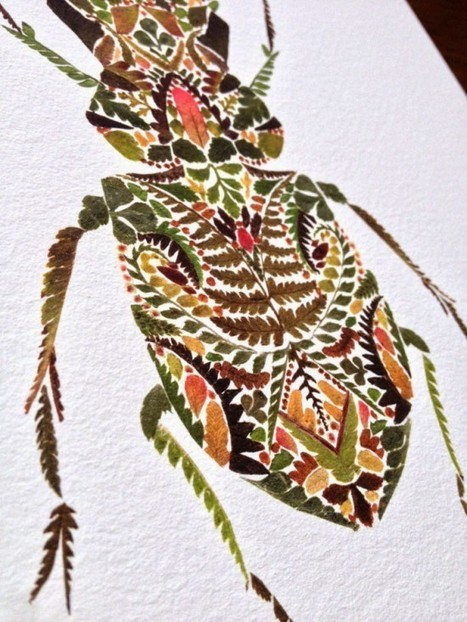 Artist Uses Pressed Plant Leaves to Create Beautiful Collages | Strange days indeed... | Scoop.it