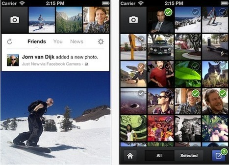 Facebook lance l'application Appareil photo pour iPhone sur la France | Stratégie médias innovants | Scoop.it
