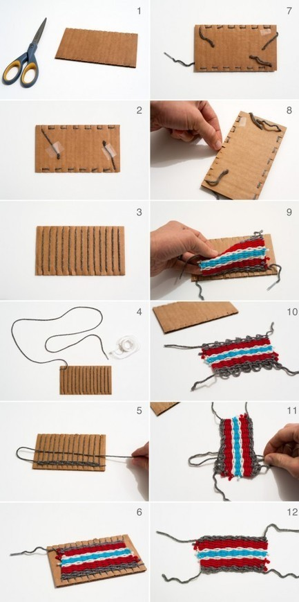 Weaving Tutorial for Beginners and Kids with Cardboard and Yarn | Made by Joel | Du fait main & some handmade | Scoop.it