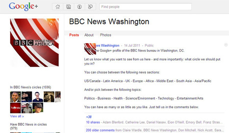 BBC | BBC College of Journalism Blog - So what can Google+ do for journalists? Good question... | Google+ | Scoop.it