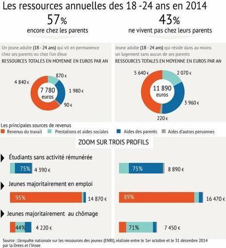 Le Figaro Premium - Les 18-24 ans vivent en moyenne avec 795 euros par mois   La presse et la classe de fle   Scoop.it