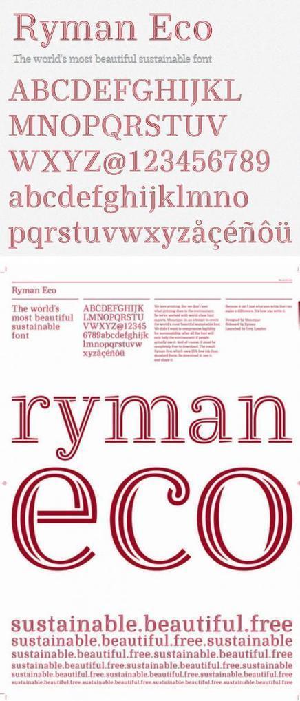Typographie : mieux que Garamond pour économiser de l'encre, il y a Ryman Eco   Archimag   bib & actualités numériques   Scoop.it