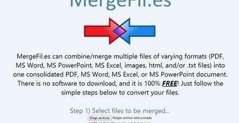 MergeFil, crea un único documento a partir de varios en distintos formatos   Aplicaciones TIC SF   Scoop.it