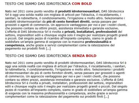 GLI ERRORI PIU' FREQUENTI NELL'UTILIZZO DEL BOLD (GRASSETTO) | Il web writing in Italia by Contenuti WEB | Scoop.it